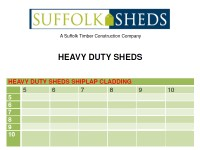 Heavy Duty Sheds Price List