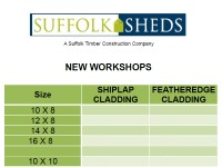 New Workshops Price List